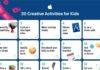 Apple suggerisce varie attività didattiche che i bambini più piccoli possono svolgere a casa