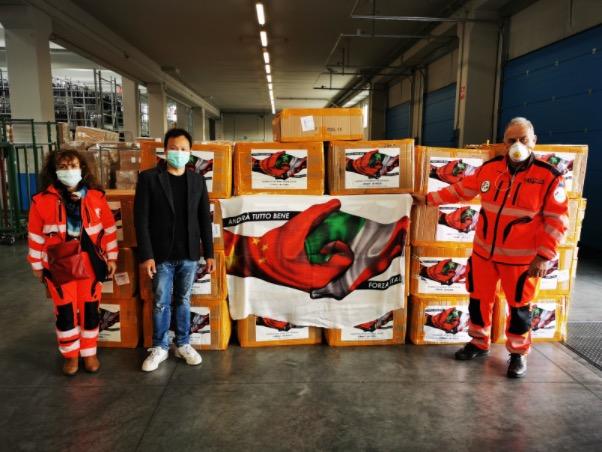 Le mascherine di Blackview donate all'Italia sono arrivate