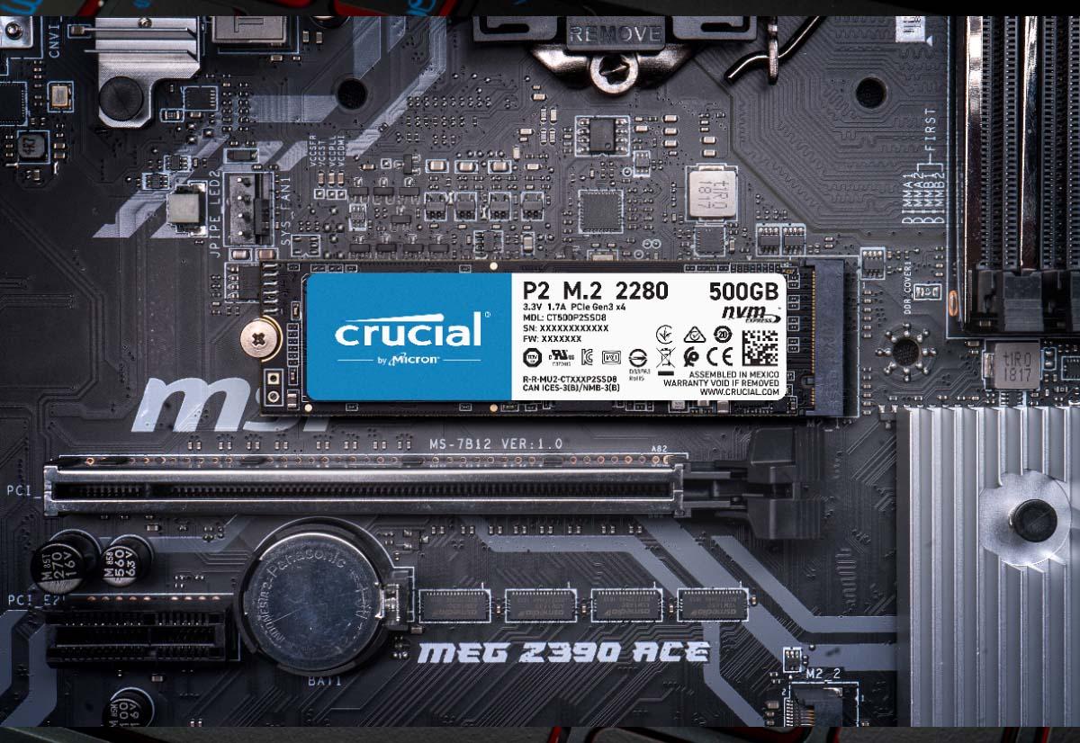 Micron amplia la gamma di SSD Crucial NVMe con Crucial P5 e P2