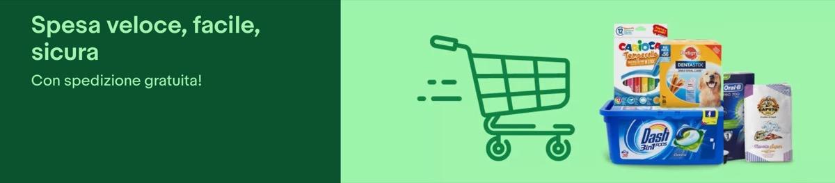 Spesa facile ai tempi del Lockdown: con Ebay è veloce, sicura e gratuita
