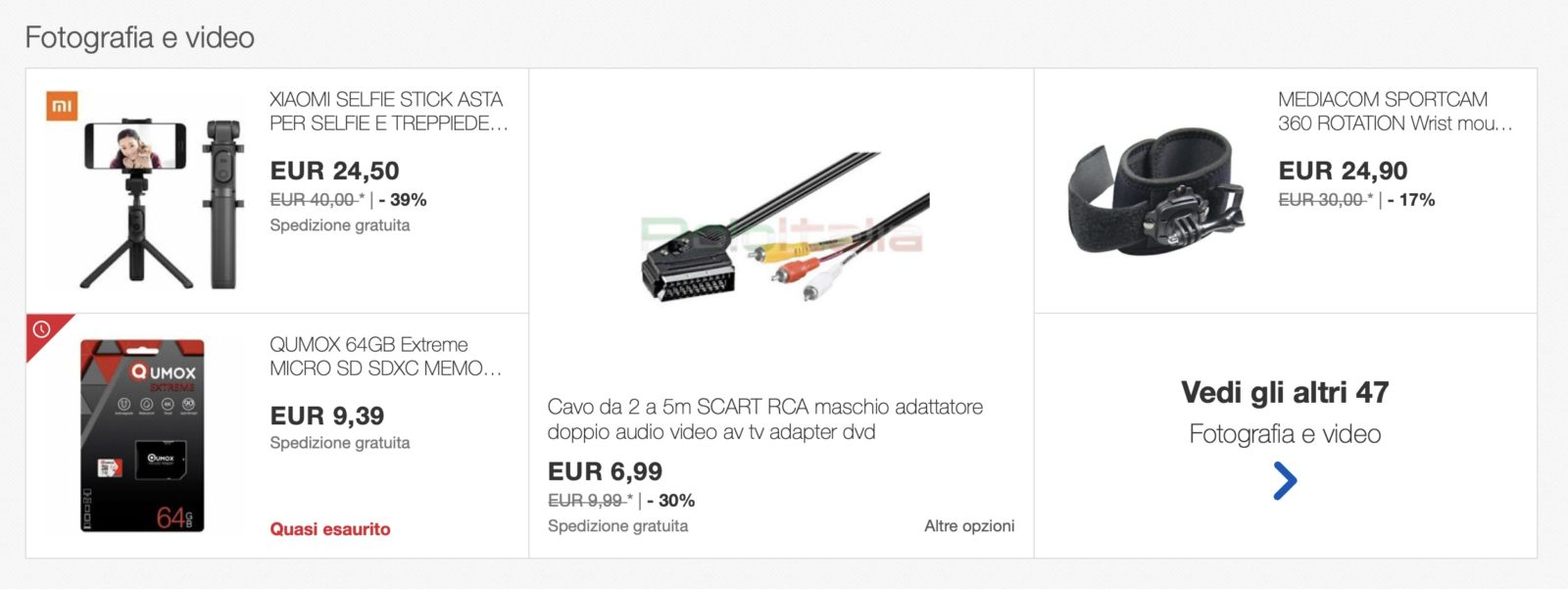 Sconti eBay su iPhone, iPad, audio e video