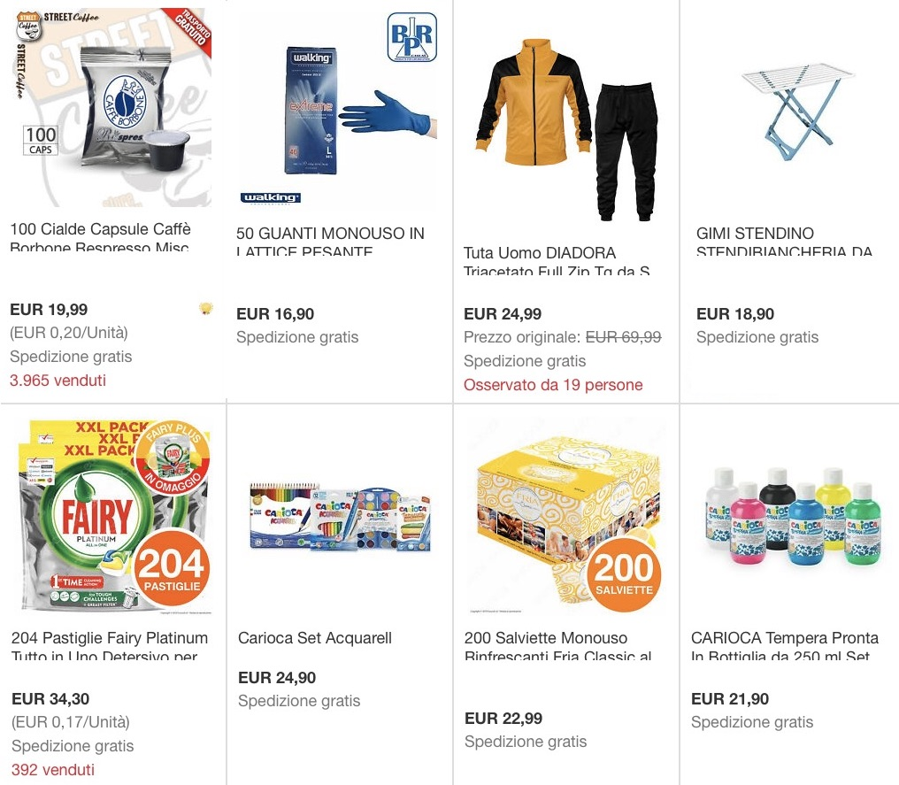 Su Ebay sconto di 5 euro fino al 19 aprile suo prodotti per casa: ecco il codice