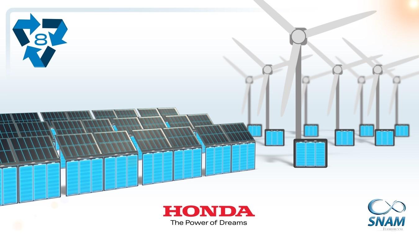 """""""Seconda vita"""" alle batterie di Honda Hybrid ed EV con la rigenerazione"""