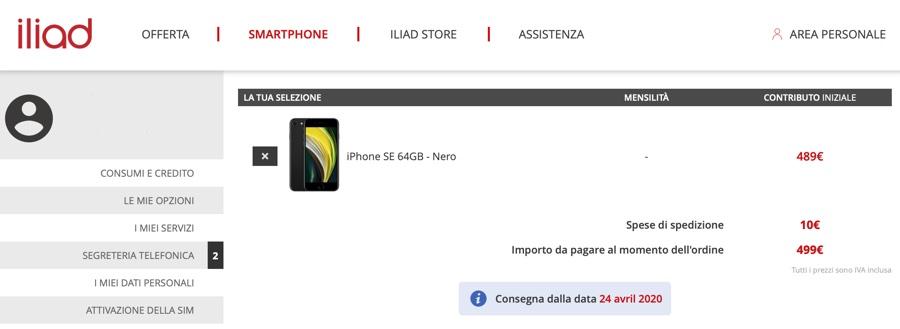 iPhone SE 2020 si preordina su iliad con consegna il 24 aprile