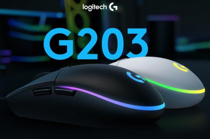 logitech g203 mouse aggiornamento