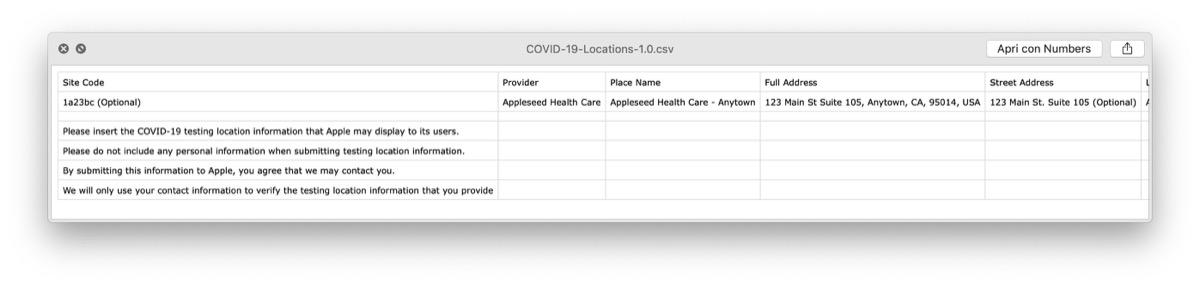 apple mappe localizzerà strutture per test e tamponi covid-19