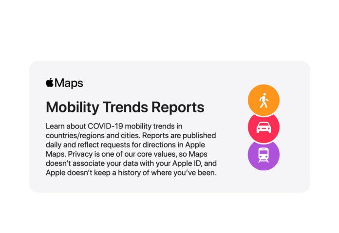 Apple rende disponibili i dati sulla mobilità per contribuire alla lotta contro il COVID-19