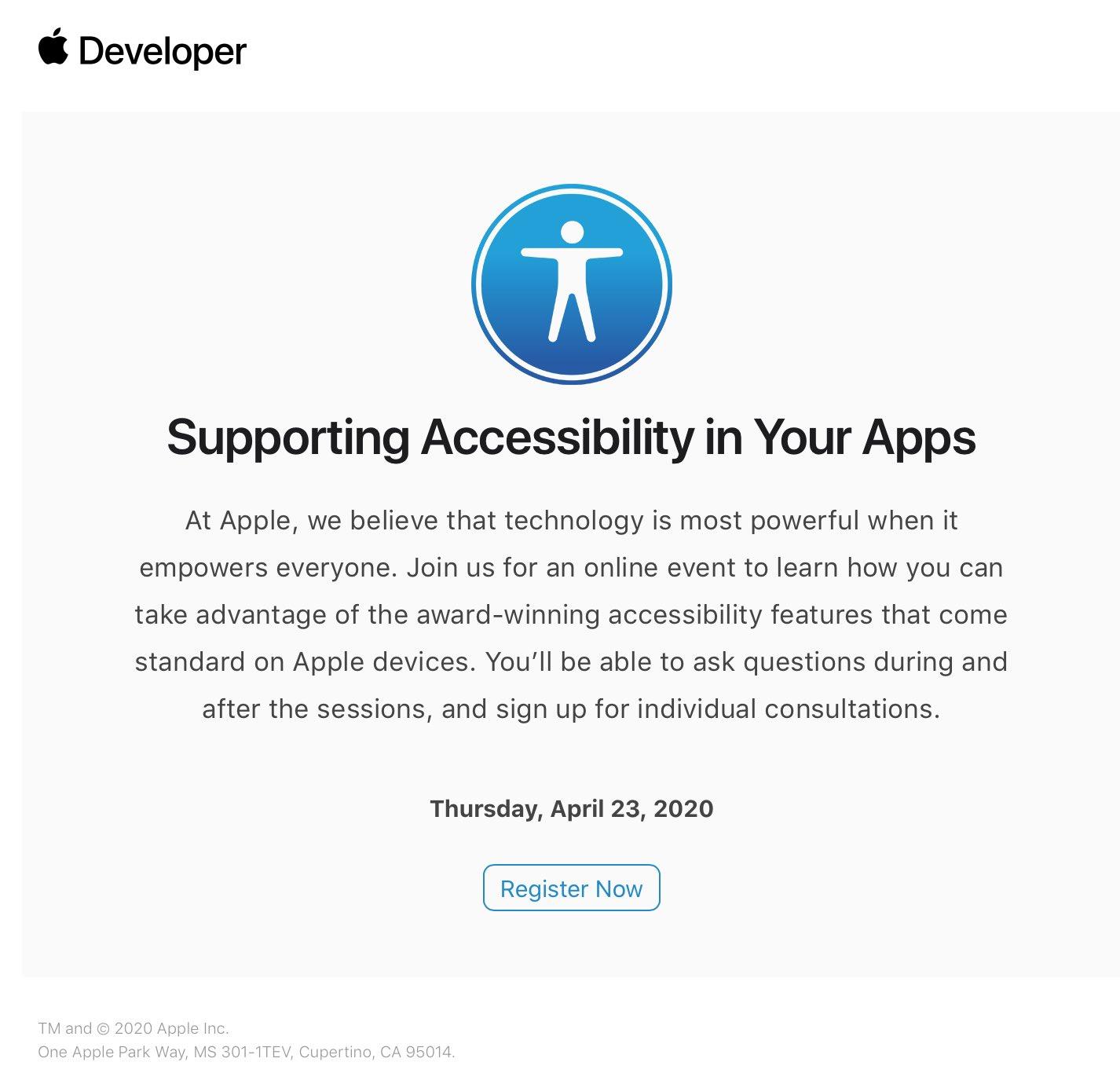 Prova per WWDC 2020, Apple invita alcuni sviluppatori a una sessione online