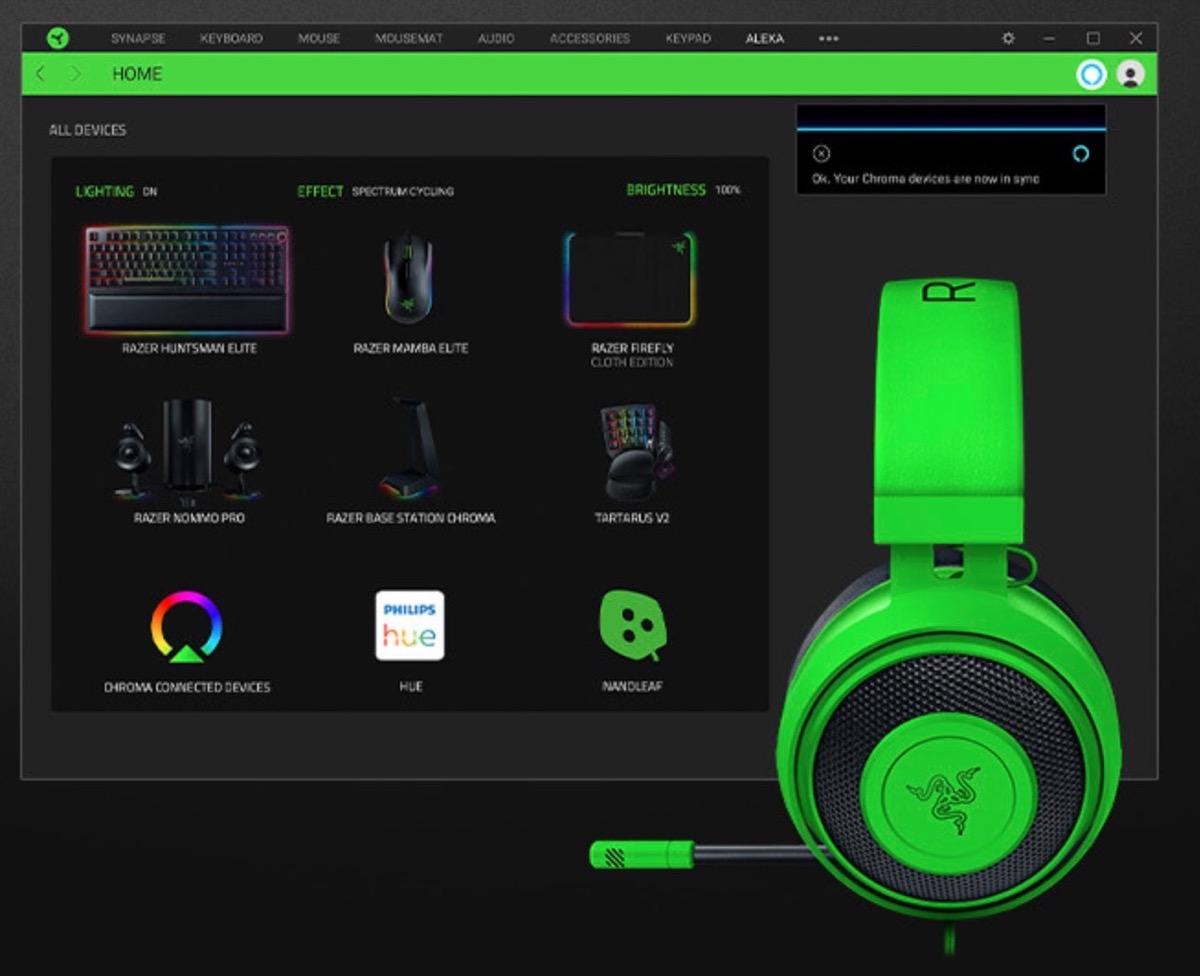 Razer supporta Alexa: ora la scrivania diventa davvero Smart