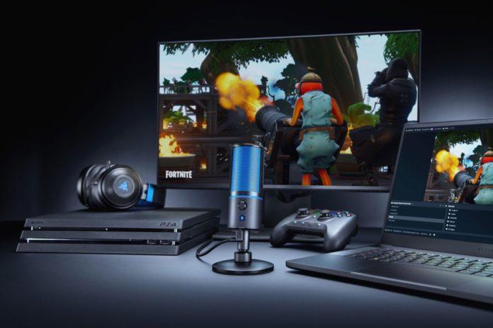 Razer Seiren X, microfono a condensatore per audio professionale in offerta a 89,99 euro