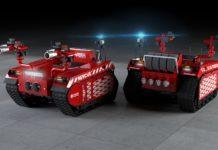 I robot perl'estinzione degli incendii in aiuto ai vigili del fuoco
