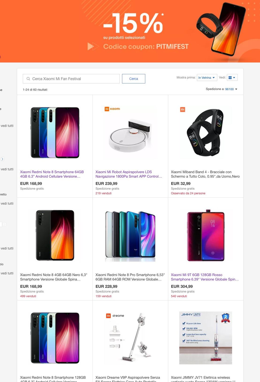 Sconti Xiaomi fino a 50 euro su eBay