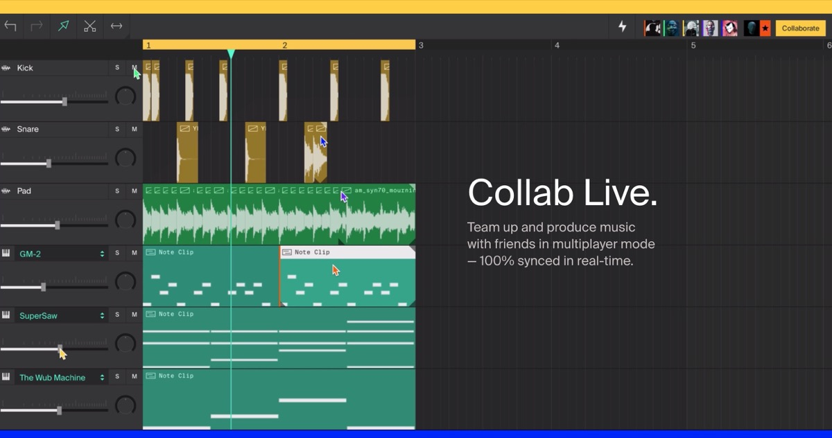 La DAW di Soundstation come Google Docs: collaborazione online e in tempo reale