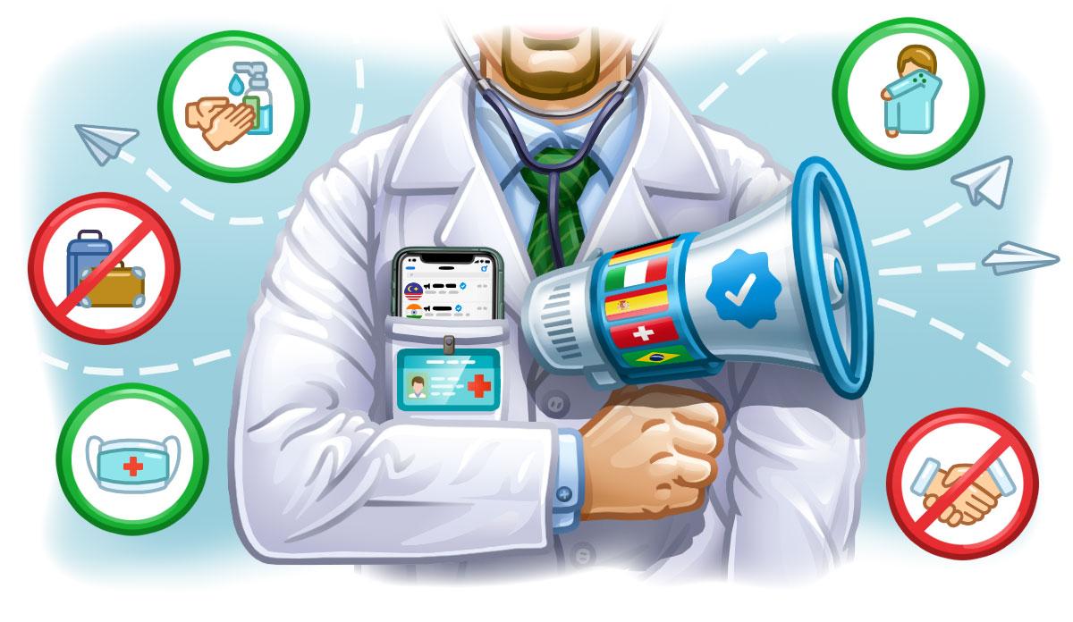 Telegram contro le bufale da coronavirus con notizie e canali verificati
