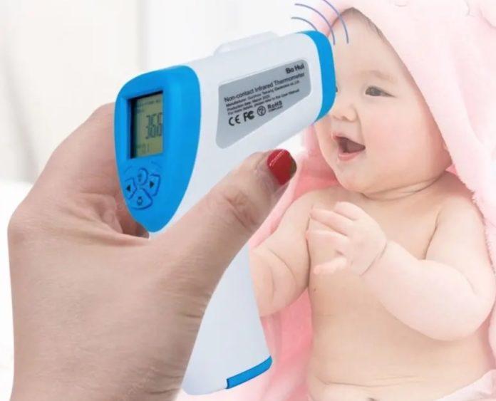 Termometro a infrarossi senza contatto per misurare la febbre, a partire da 43 euro