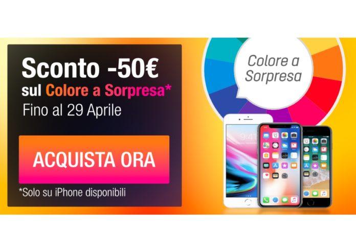 Sconto -50€ su iPhone con il Colore a Sorpresa. Su TrenDevice solo fino al 29/4