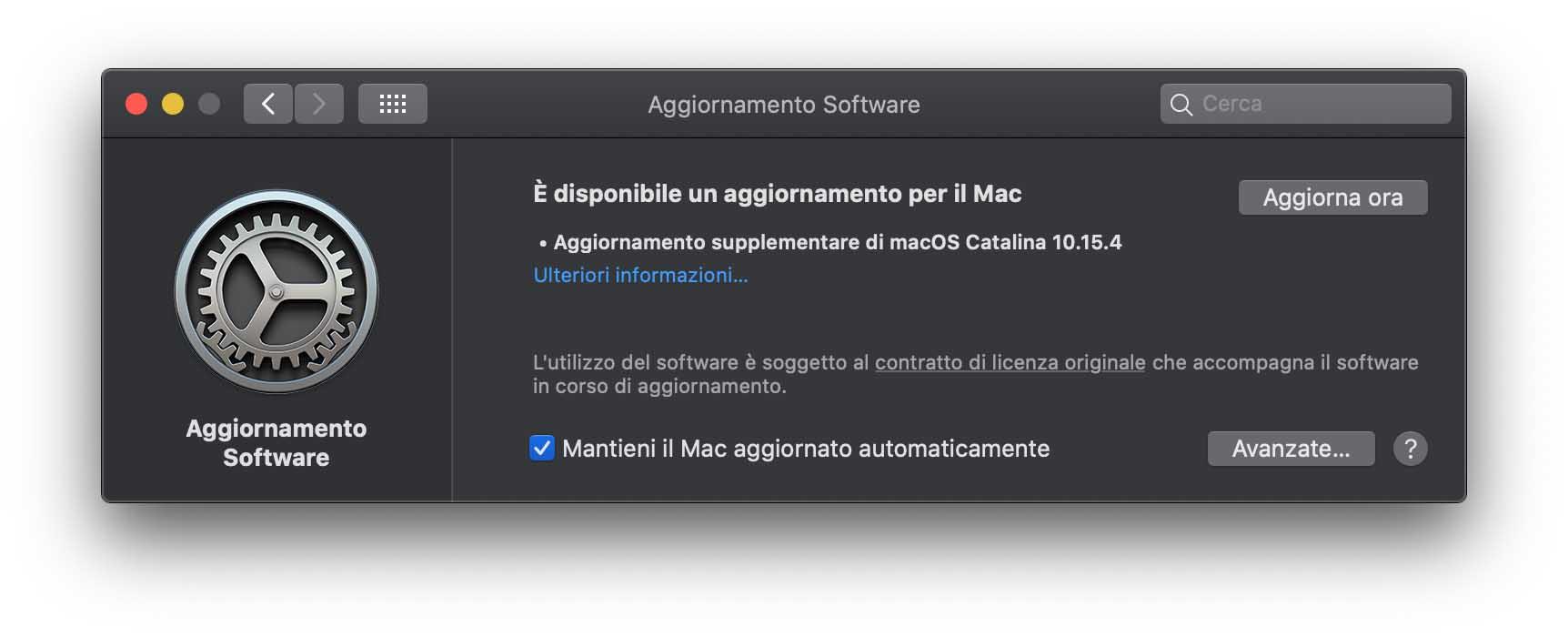 macOS 10.15.4, Apple ha rilasciato un Supplemental Update per risolvere alcuni bug