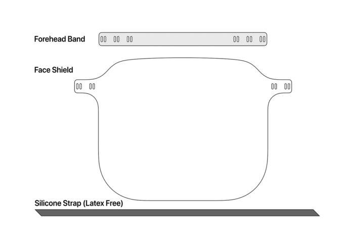 Apple, le istruzioni su come assemblare le visiere protettive che sta costruendo e inviando ai sanitari