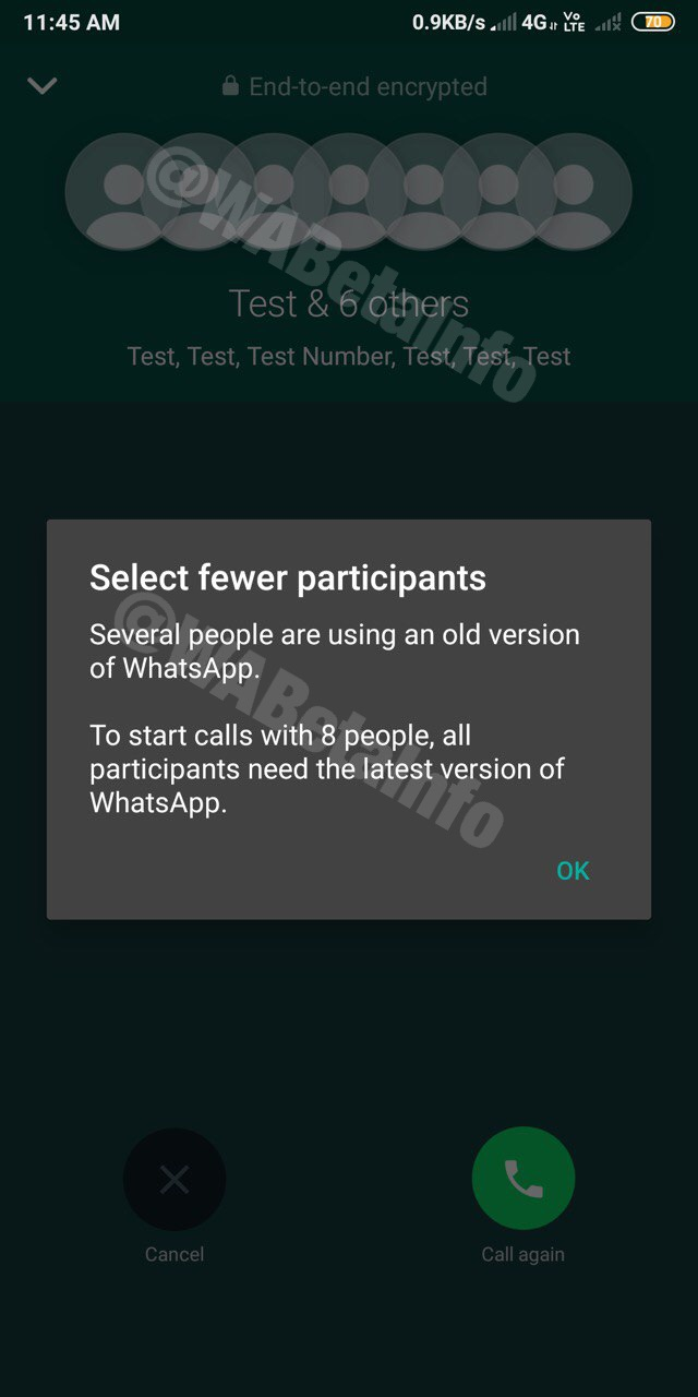WhatsApp lavora alle video chiamate con più persone