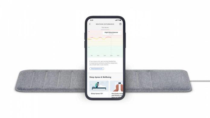 Withings monitora l'apnea notturna con il sensore per materasso