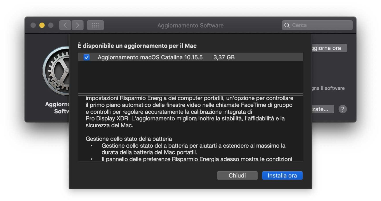 Disponibile l'update a macOS 10.15.5