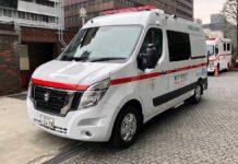 Nissan NV400 è la prima ambulanza giapponese a zero emissioni