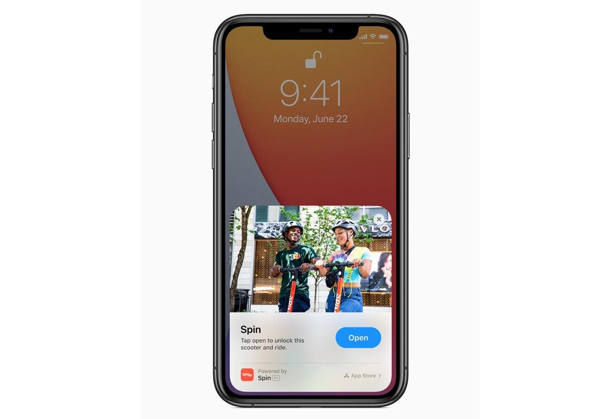 App Clip in azione su iOs 14