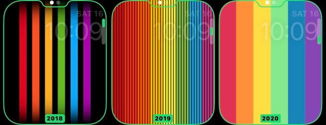 Nella beta di watchOS 6.2.5 nuove opzioni per il quadrante Pride