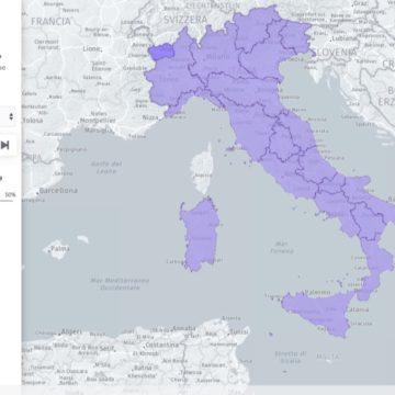 Coronavirus, la mappa della mobilità di Apple arriva in Italia