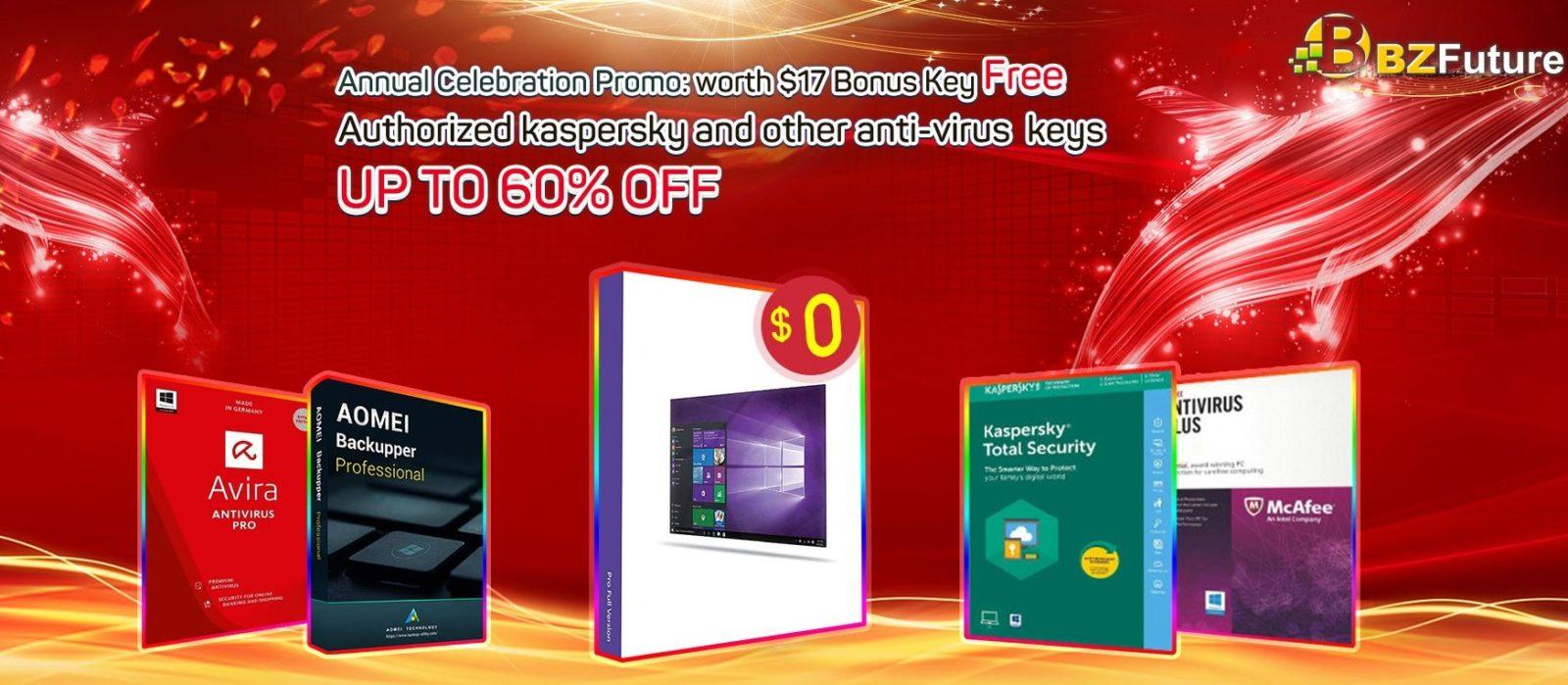 Software antivirus in sconto fino al 60% e gratis la licenza a Windows 10 Pro