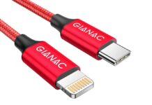 Cavo USB-C Lightning con guaina in nylon, di colore verde: ultime ore a 11,99 euro