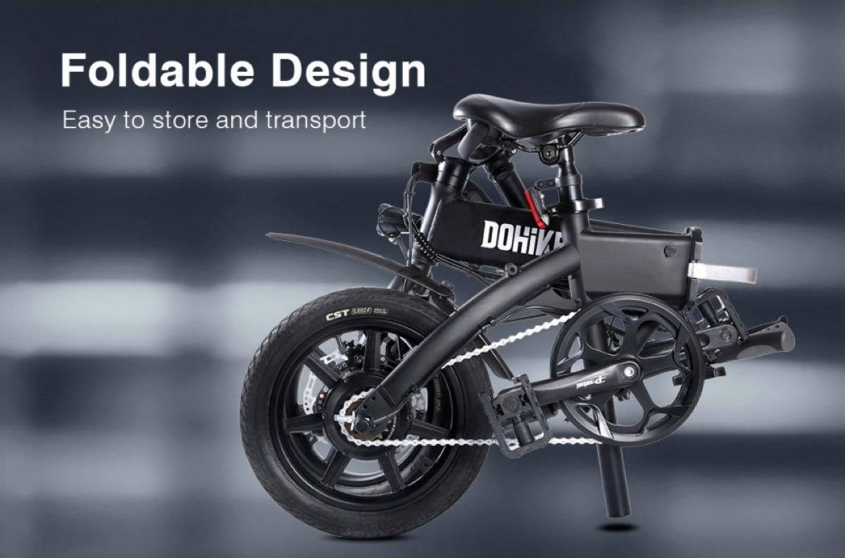 Bicicletta elettrica pieghevole DOHIKER, con codice sconto a 462,57 euro