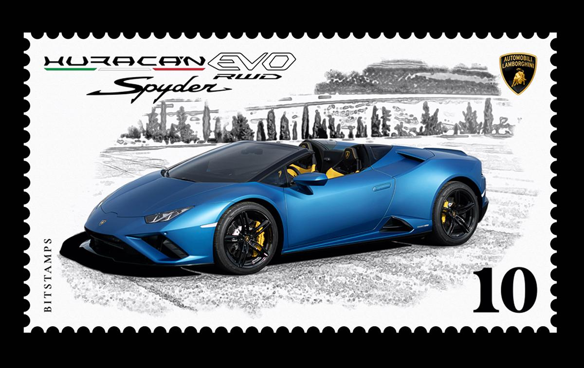 Lamborgini, un francobollo digitale da collezione