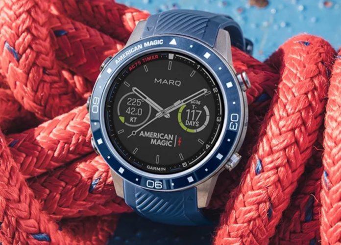 Lo smartwatch Garmin Marq Captain in edizione speciale stile America's Cup