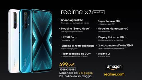 realme X3 SuperZoom arriva in Italia, si preordina da oggi a 499 euro