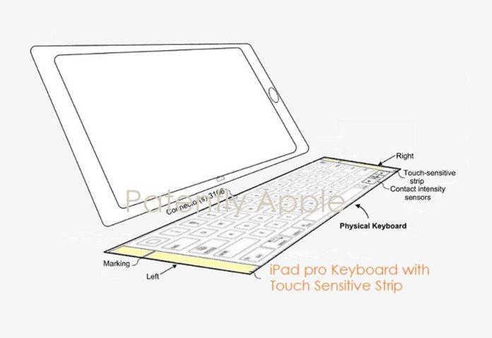 In un brevetto di Apple una tastiera per iPad Pro con fasce laterali touch