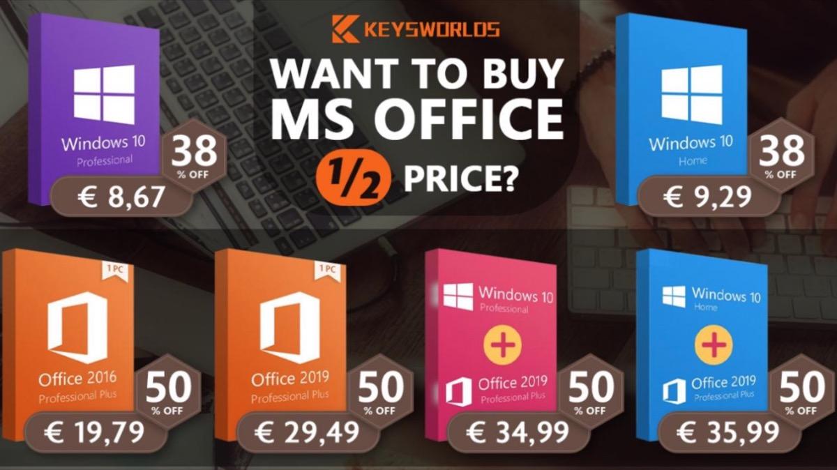 Microsoft Office per Mac e Windows in offerta a partire da soli 19,79 euro