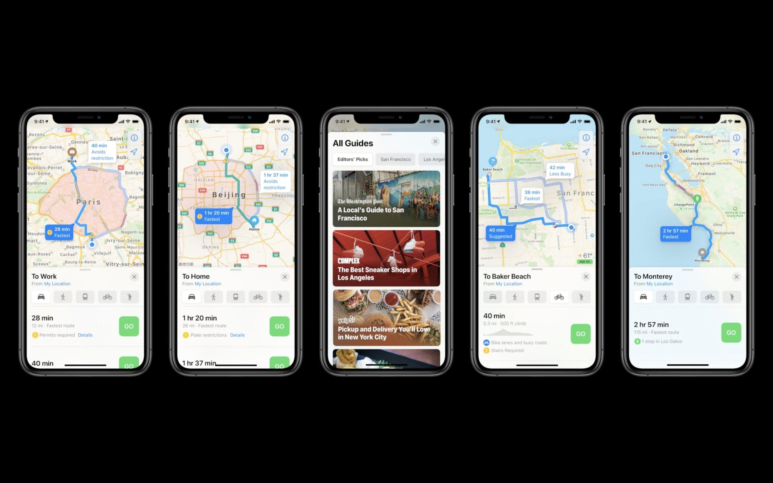 Le novità di Mappe di iOS 14: lettura delle aree a traffico limitato, guide e itinerari ciclistici