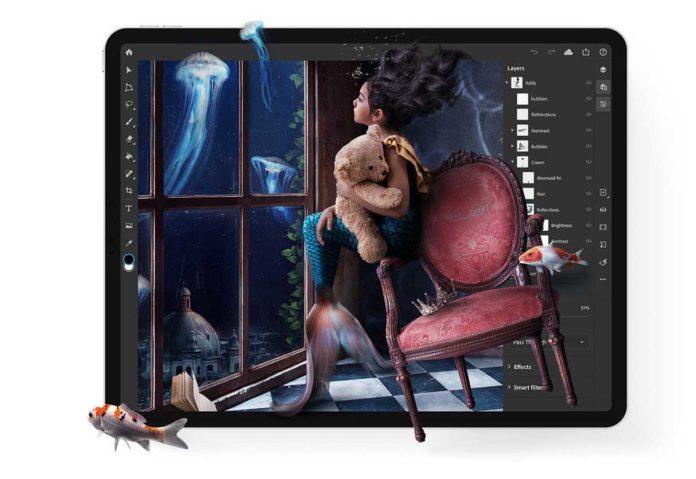 Photoshop per iPad ora permette di personalizzare la sensibilità di Apple Pencil