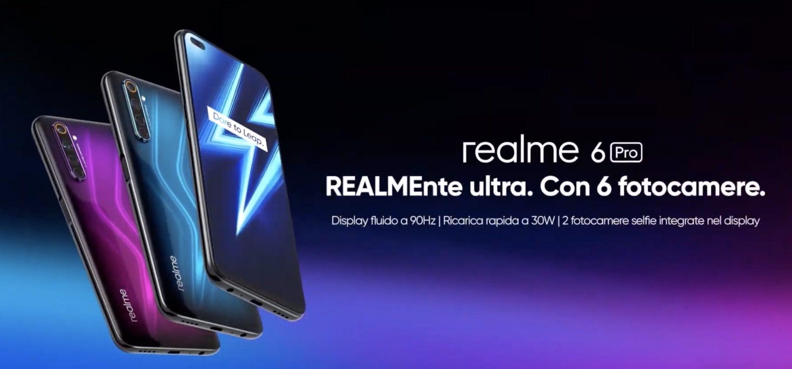 Realme 6 Pro e X50 Pro 5G ufficiali in Italia, disponibile a partire da oggi a 329 euro su Amazon