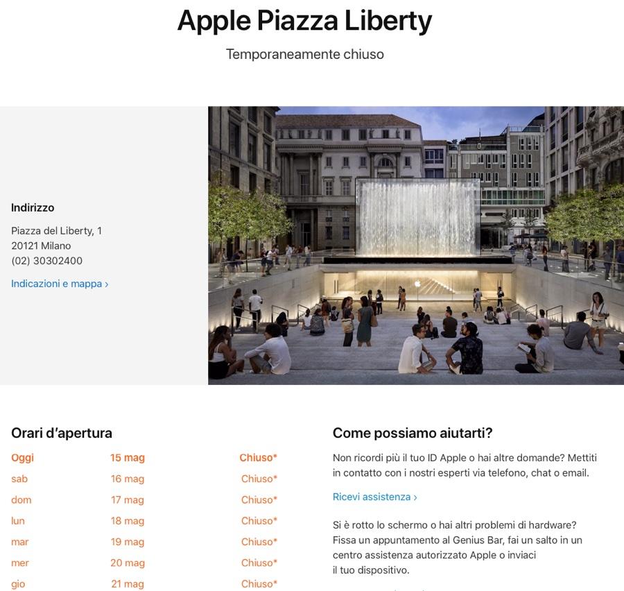 Con l'alleggerimento dei lockdown si torna nei negozi Apple in Italia