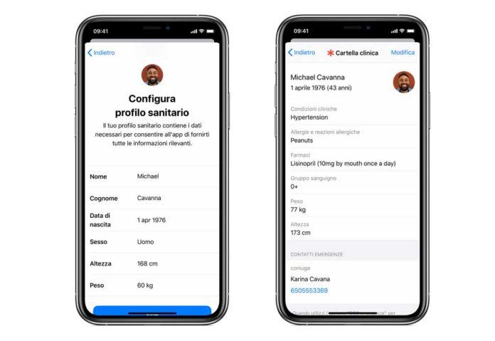 Una nuova funzione di iOS per inviare la cartella clinica agli operatori di primo intervento