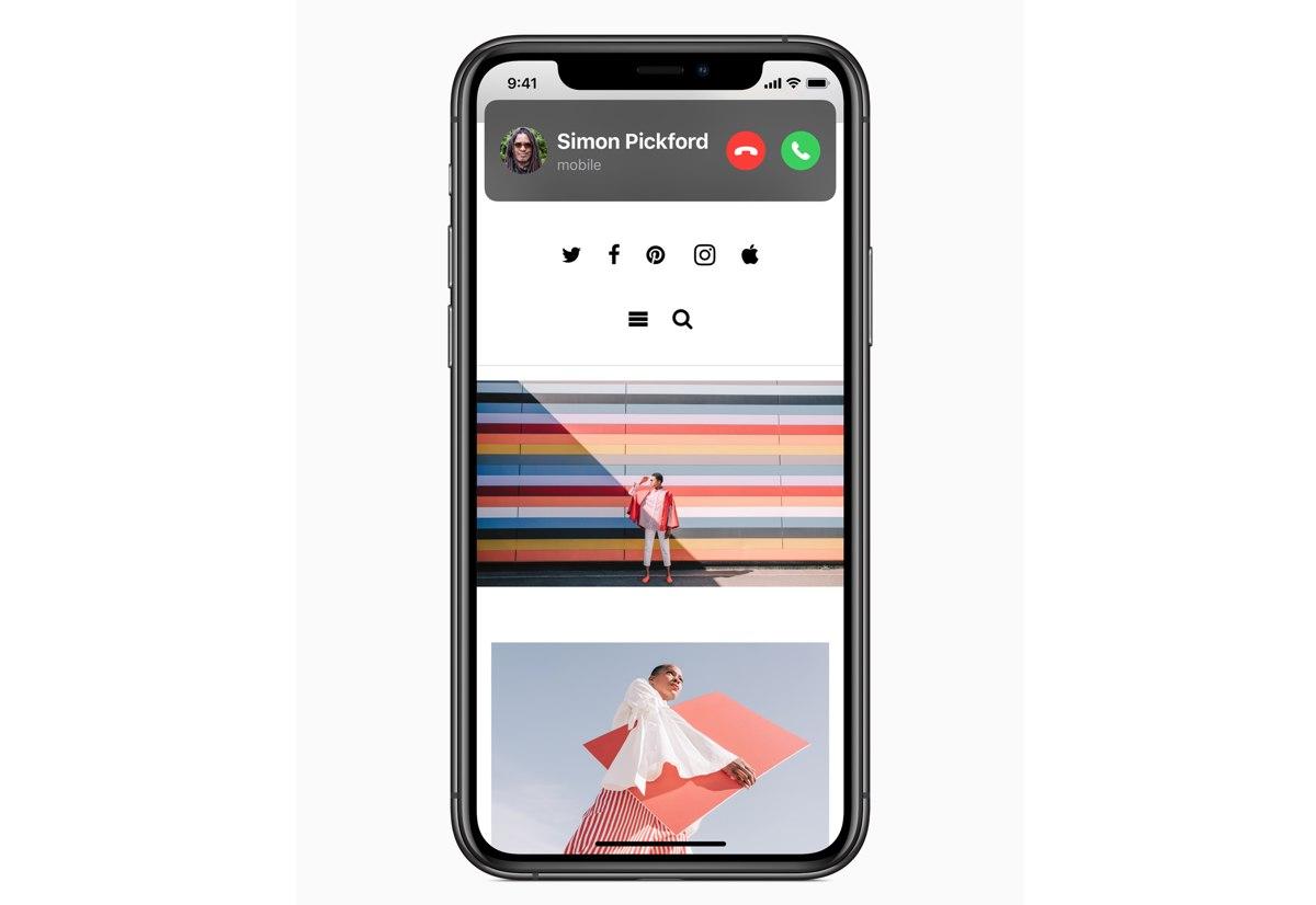 L'applicazione per la chiamata non occupa più l'intero schermo di iOS 14