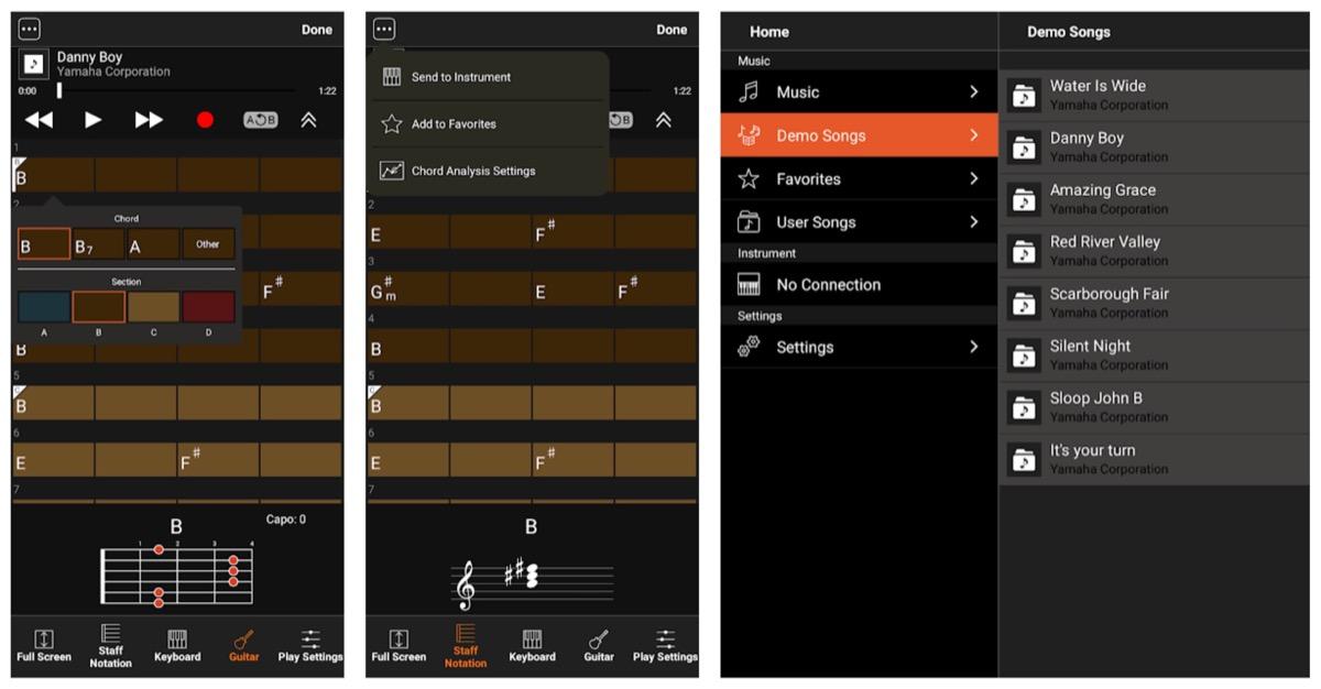 L'app Yamaha Chord Tracker estrapola gli accordi dalla musica su iPhone, ipad e Android