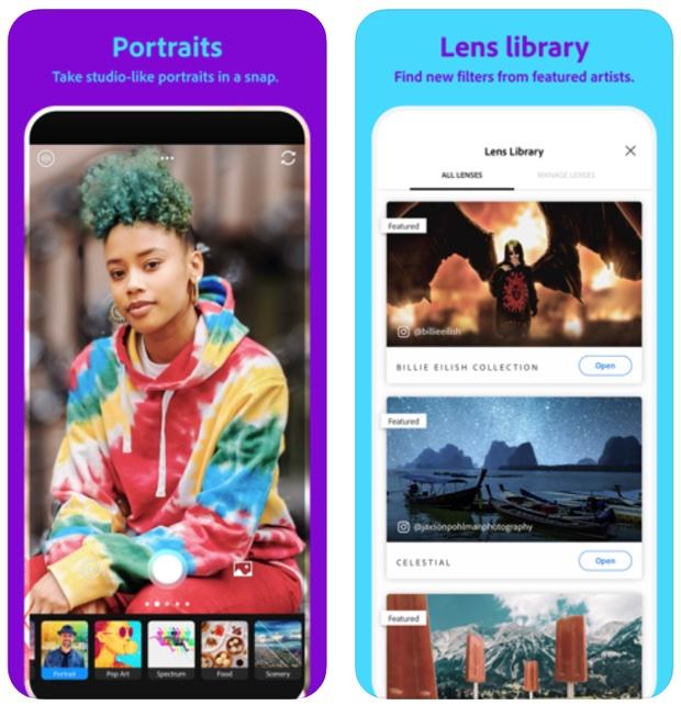Adobe Photoshop Camera, disponibile l'app per foto magiche su iPhone