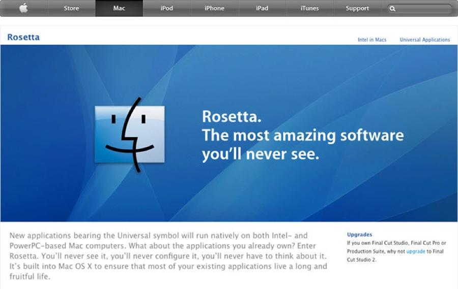 Apple Rosetta, l'emulatore potrebbe tornare alla WWDC20