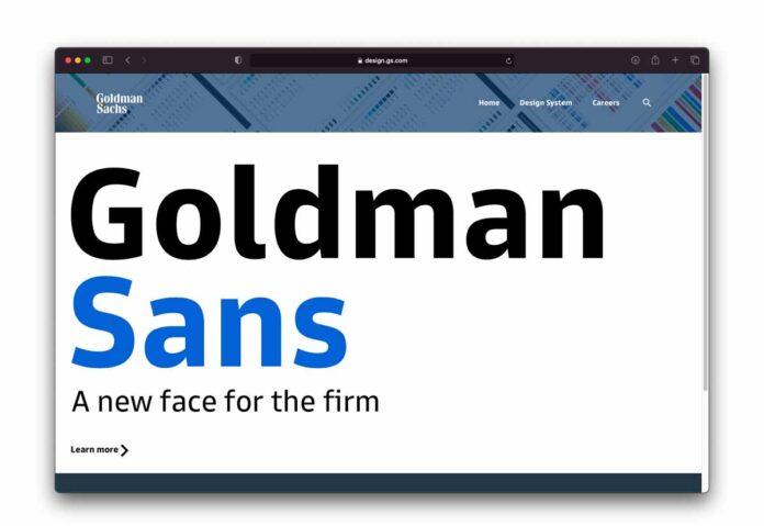 Goldman Sachs ha presentato un font ma non potete usarlo per criticare la banca di affari
