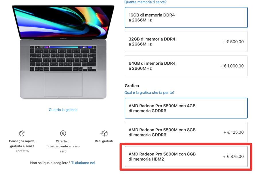 """Apple introduce una nuova GPU per MacBook Pro 16"""" e il kit SSD per Mac Pro"""