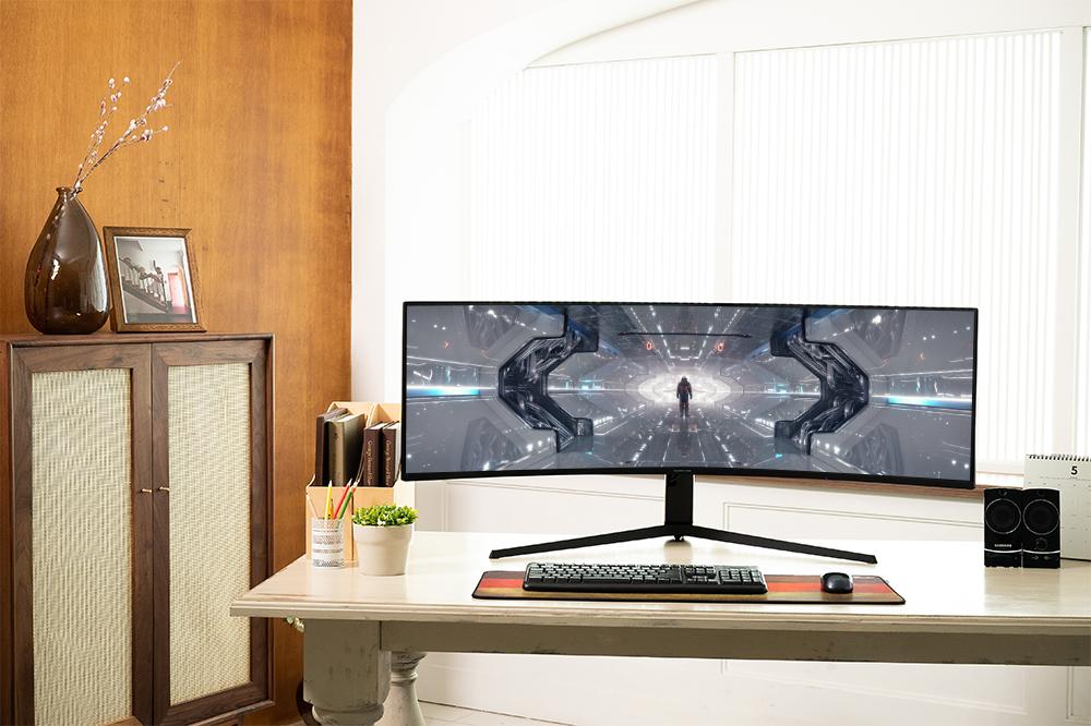 Samsung Odyssey G9 da 49 pollici, il primo monitor ad alta definizione Dual Quad per veri gamer