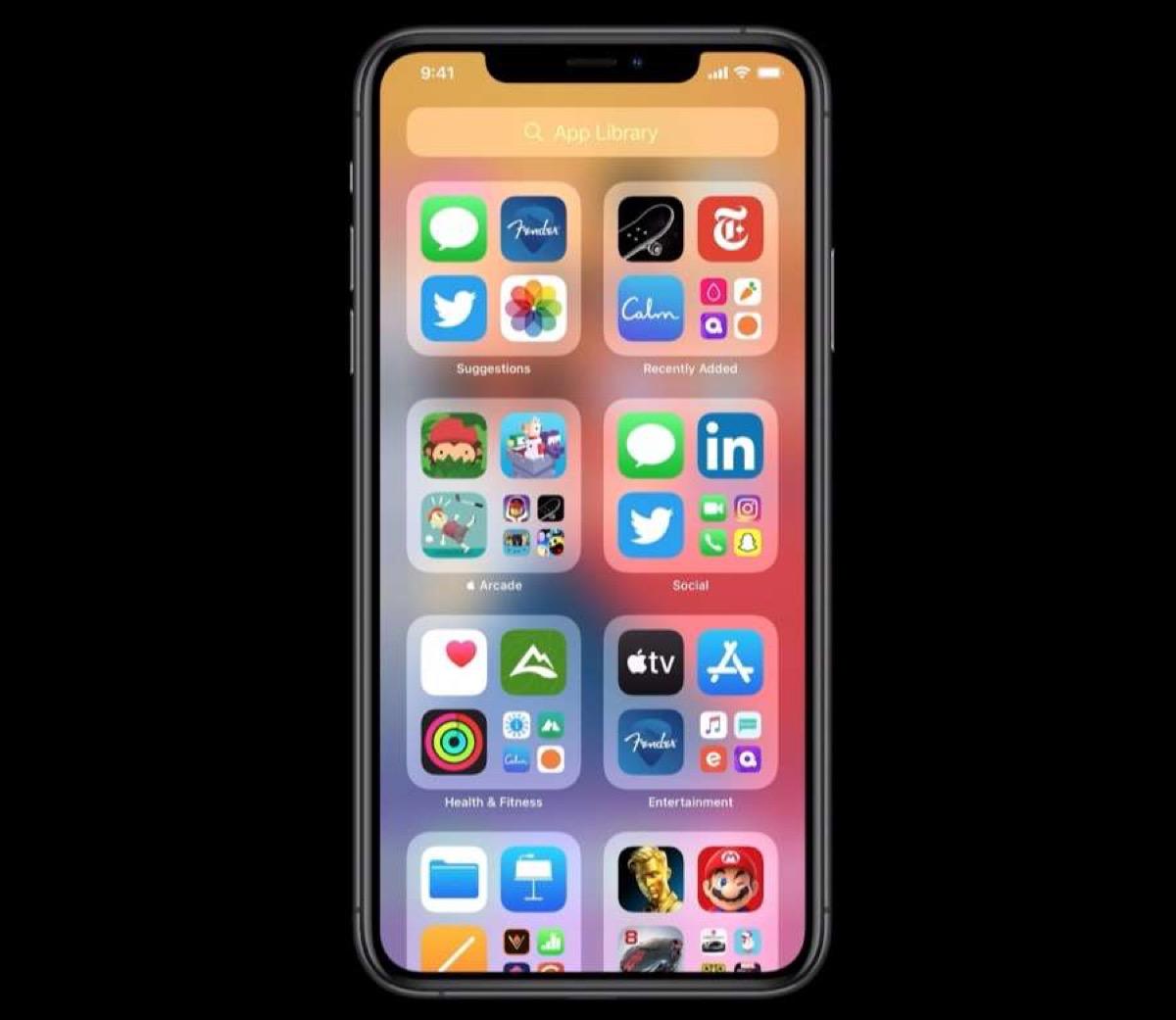 Presentato iOS 14, rivoluzione alla schermata principale con App Library e Widget